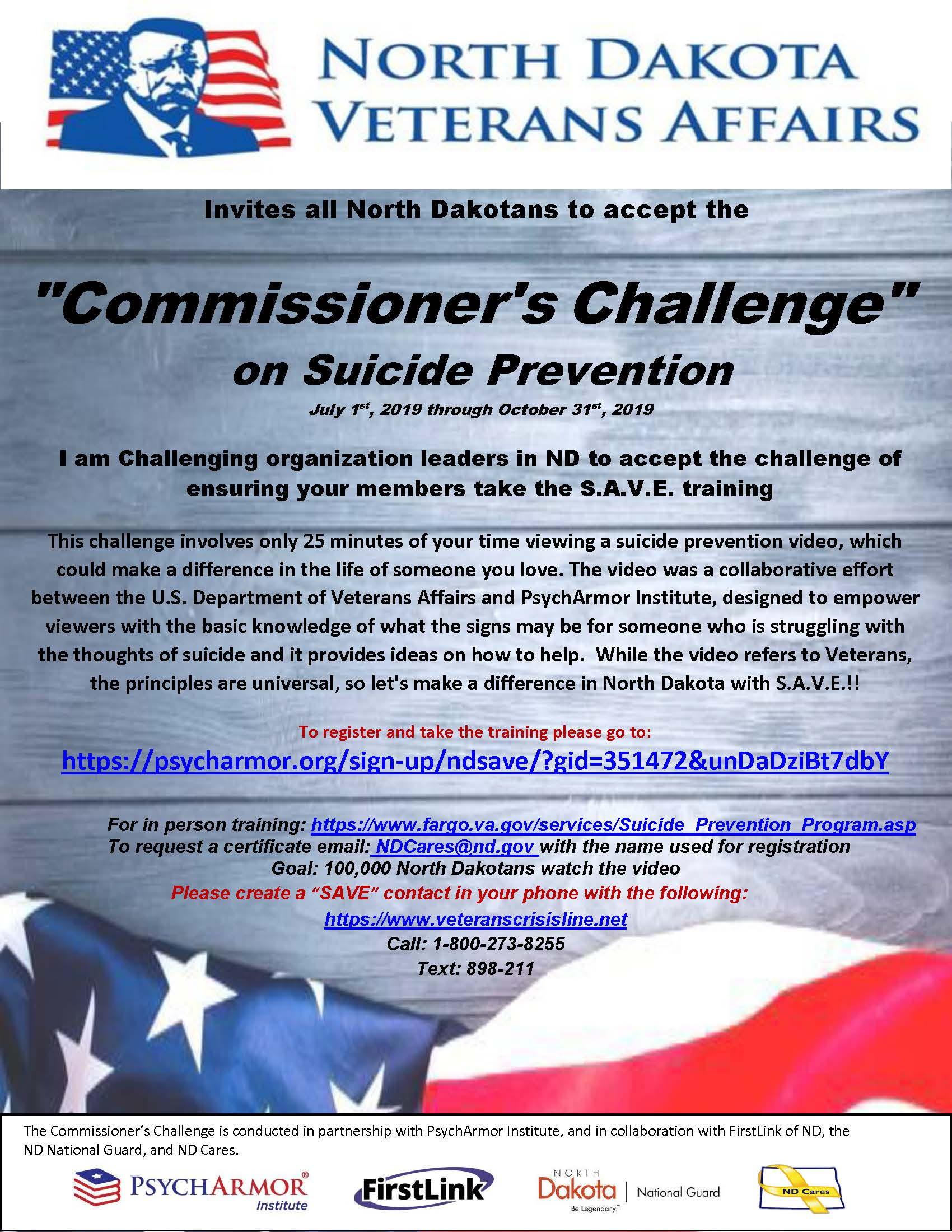 ND DVA Commissioner's Challenge